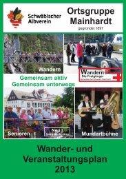 Jahresprogramm 2013 - Schwäbischer Albverein Ortsgruppe ...