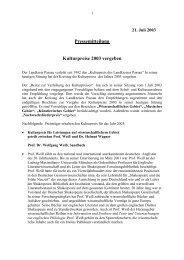 Kulturpreis 2003 vergeben - Landkreis Passau