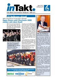 InTakt Ausgabe April 2012 - Chorverband Heilbronn