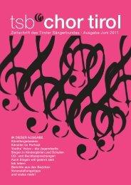 2. Ausgabe - Juni 2011 - Tiroler-Saengerbund