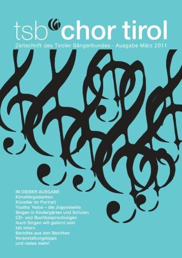 1. Ausgabe - März 2011 - Tiroler-Saengerbund