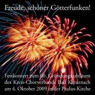 Freude, schöner Götterfunken! - Kreis-Chorverband Bad Kreuznach