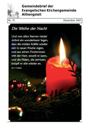 Gemeindebrief der Evangelischen Kirchengemeinde Althengstett