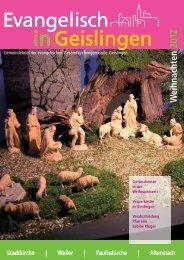Ausgabe Dezember 2012 - Kirchenbezirk Geislingen