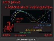 Präsentation - Liederkranz Weingarten