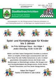 Stadtteilnachrichten Heft 36 - Bürgerverein Freiburg Mooswald eV