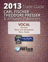 Vocal - the Theodore Presser Company