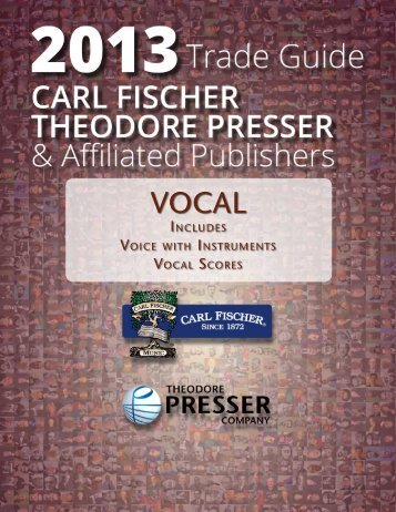 Vocal - the Theodore Presser Company