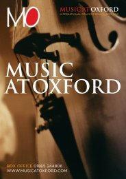 Download our Brochure - Music at Oxford