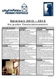 Spielzeit 2012 - 2013 - Peine Marketing GmbH