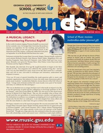 Sounds - Georgia State University School of Music