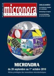 du 28 septembre au 1er octobre 2010 - Micronora