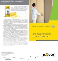 Fisa produse ISOVER Izolatia fonica la peretii de - Menatwork
