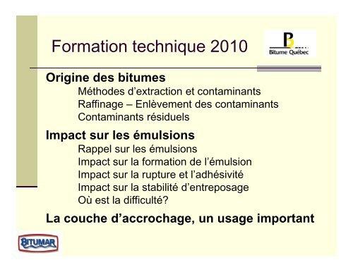 Liants hydrocarbonés et émulsions