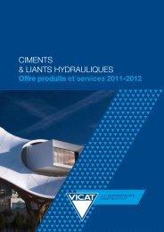 ciments & liants hydrauliques - Vicat