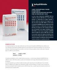 liant de sulfate de calcium cab 30 - LANXESS Anhydrit