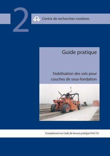 Stabilisation des sols pour couches de sous-fondation - Fediex