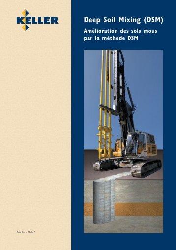 Depp Soil Mixing (DSM) - Keller Fondations Spéciales