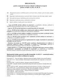 BIBLIOGRAFIE, pentru examenul de atestare tehnică verificatori şi ...