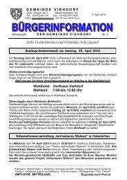 Dorfhaus Viehdorf Wahlzeit