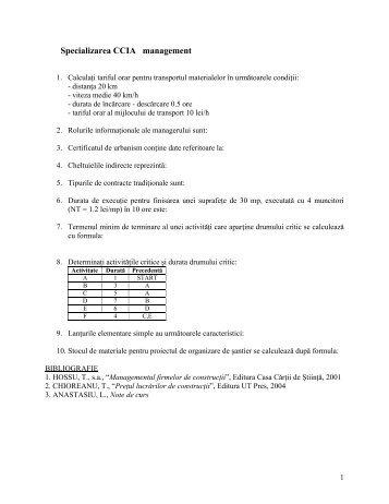 Subiecte licenta 2012 Specializarea CCIA - Facultatea de ...