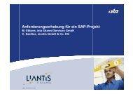 Anforderungserhebung für ein SAP-Projekt ... - Szallies Informatik