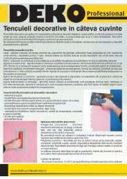 Tencuiala Decorativa Deko Pret.T8300 Tencuiala Decorativa Canelata R15 Deko Professional