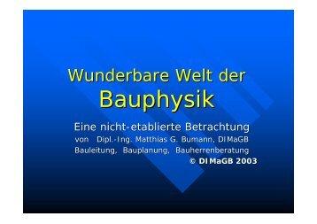 Wunderbare Welt der Bauphysik - Download