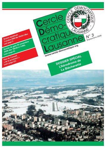 Bulletin no. 3/06 – Septembre 2006 - Cercle Démocratique Lausanne