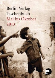 Berlin Verlag Taschenbuch Mai bis Oktober 2013 - Piper Verlag GmbH
