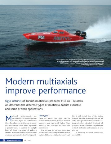 daha fazla bilgi - METYX Composites