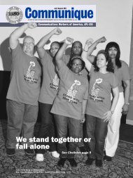 We stand together or fall alone - CWA Local 1180