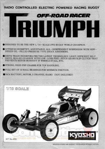 kyosho triumph manual - competition - CompetitionX.com