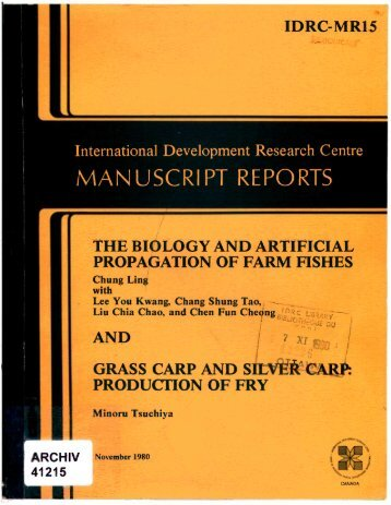 manuscript reports - International Development Research Centre