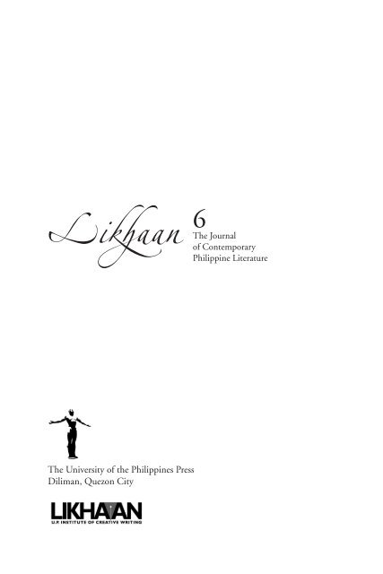 Likhaan 6 - Likhaan: The UP Institute of Creative Writing