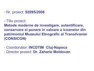 Metode moderne de investigare, autentificare, conservare si ... - CNMP