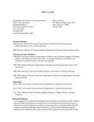 BRETT J - NYU Steinhardt School of Culture, Education, and Human ...