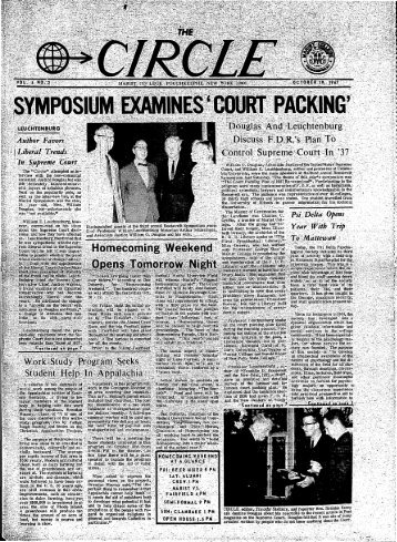 Vol. 4 No. 2, October 19, 1967 - James A. Cannavino Library - Marist ...