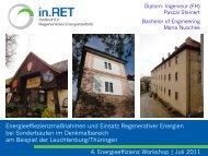 Energieeffiezienzmaßnahmen und Einsatz Regenerativer ... - ThEGA