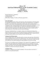 American Political History in the Twentieth Century