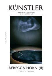 rebecca horn (II) - Zeit Kunstverlag