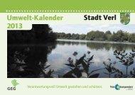 Umweltkalender 2013 - Stadt Verl