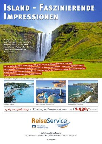 Reiseprospekt Island - Volksbank Göppingen eG