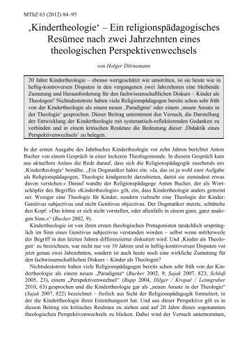 Kindertheologie Magazine