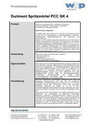 Duriment Spritzmörtel PCC GK 4 - Wietersdorfer & Peggauer ...