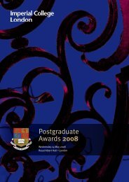 Postgraduate Awards 2008 - Imperial College London
