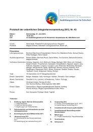 Protokoll der ordentlichen Delegiertenversammlung 2012, Nr. 43