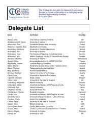 Delegate List - London Metropolitan University