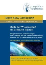 Programm und Kurzfassungen der Vorträge - Leopoldina