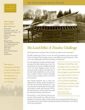 aldo leopold the land ethic pdf